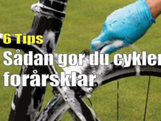 6 Tips - Sådan gør du cyklen forårsklar
