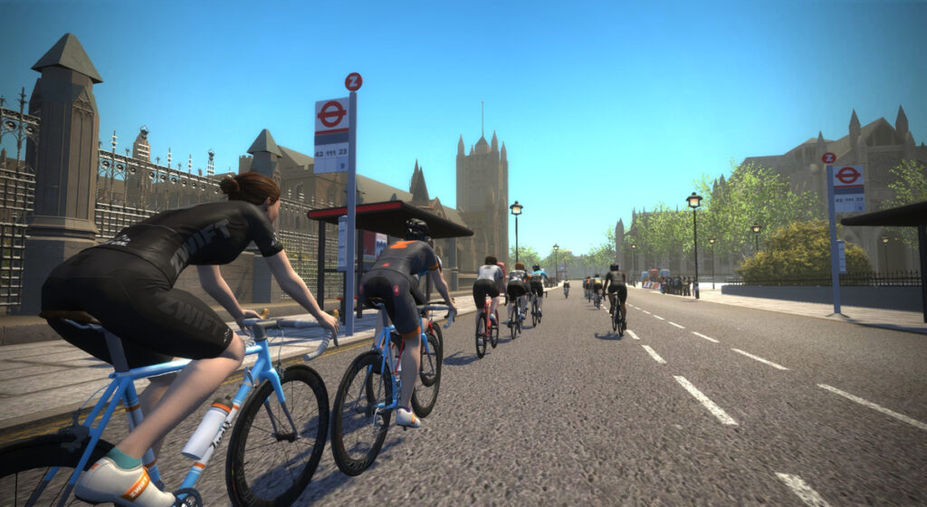 Zwift London - cykelruter