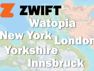 Zwift ruter - Watopia - London - Innsbruck - New York