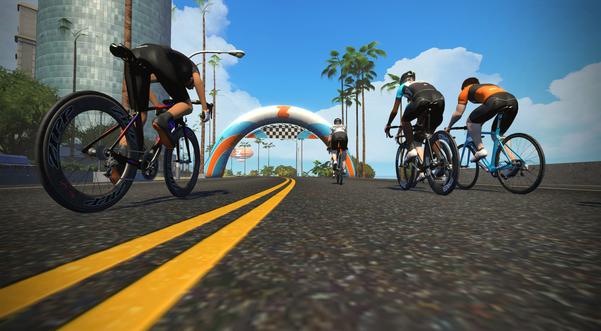 Zwift Watopia - cykelruter - Copyright Zwift